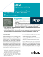 The Emergence of Peer Production Challenges and Opportunities for Labour and Unions