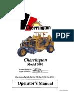 Cherrington Model 5000 - Operator Manual