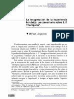 La recuperación de la experiencia - Hernán Sorgentini.pdf