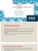 Design and Analysis of Spherical Pressure Vessel Using[1]