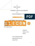 WORKING CAPITAL MANAGEMENT OF ELECON