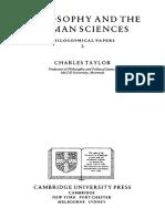 查尔斯 泰勒 Philosophy and Human Sciences