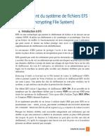 Chiffrement Du Systeme de Fichiers EFS