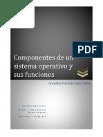 Componentes de Un Sistema Operativo y Sus Funciones