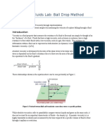 Viscosity of Fluids Lab (Ball Drop Method)