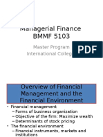 Managerial Finance First Unit