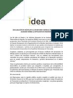 Ex Jefes de Estado y Gobierno del grupo IDEA, apoyan el informe Almagro sobre Venezuela