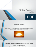 Foundations of Technology 4B - Solar Energy