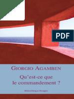 Giorgio Agamben Questce Que Le Commandement