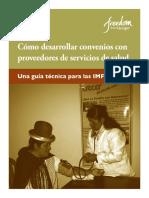 Mfg Es Documento Como Desarrollar Convenios Con Proveedores de Servicios de Salud 2010