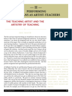 Booth (2003) - Teaching Artist and the Artistry of Teaching