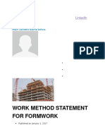 Method Formwork