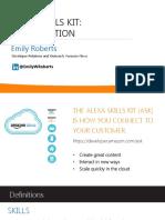 Alexa Skills Kit Introduction