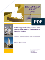 2017 Survey of Louisiana residents by LSU -- Taxes and state spending edition