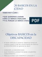 Objetivos en La Discapacidad Cantel