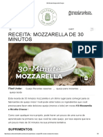 30-Minute Mozzarella Recipe