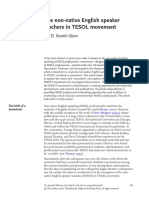 The Non-native English Speaker Teachers in TESOL Movement
