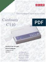 Manual Electrocardiografo Cardysuni-c110