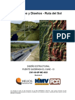 Puente Quebrada El Cune Memoria Calzada Izquierda