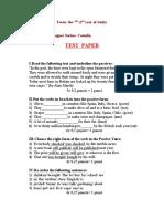 Test Paper the Passive 7