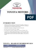 Toyota Motor Supply Chain