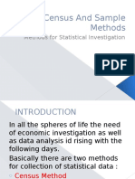 Census and Sample Methods