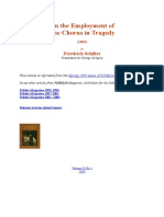 Schiller - On the Employment of Chorus in Tragedy (1803)