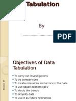 2. Presentation Tabulation