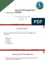 HRMP_Session 6_Training and Development