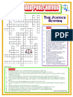 Crime and Punishment the Justice System(CROSSWORD)