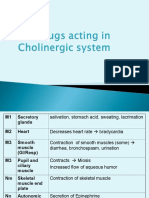 Cholinergic Drugs