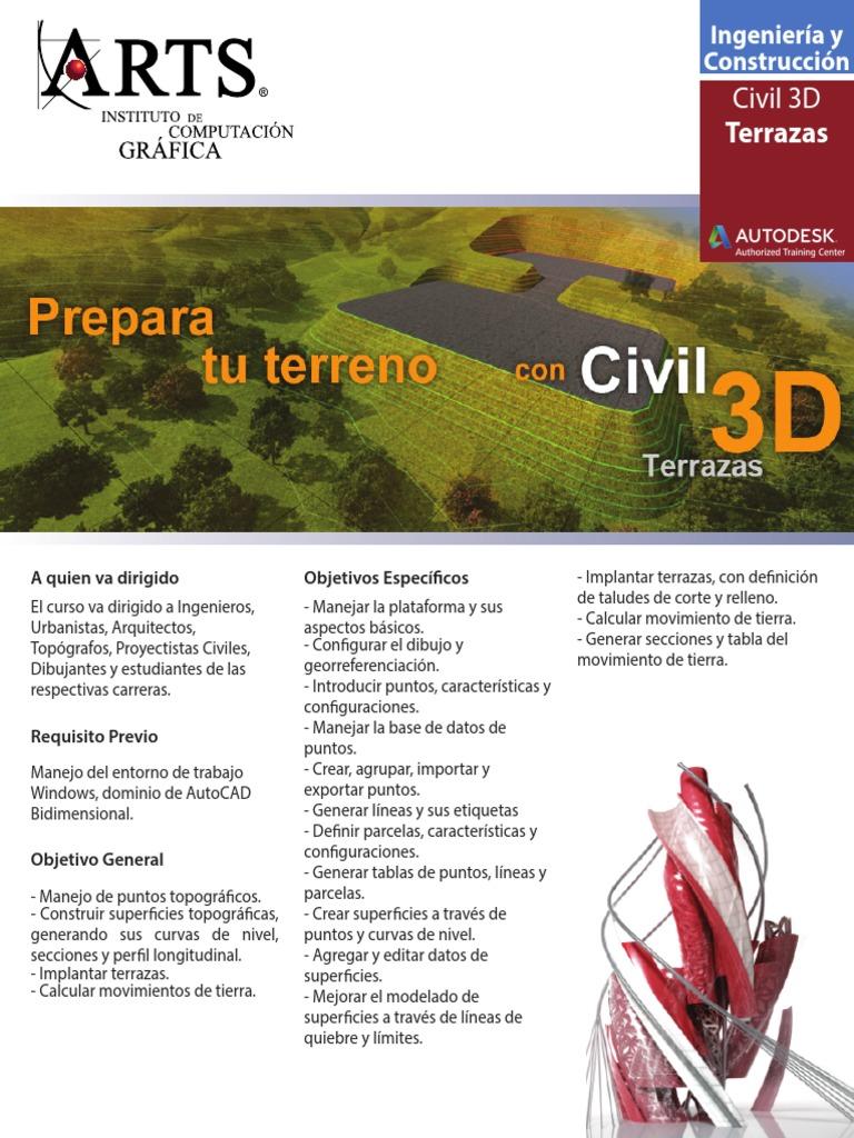 Civil3d Terrazas Topografía Interfaz De Usuario