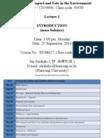 2016 09 02 CIV9009 JES Lecture 1 Mass Balance
