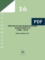 eBook en PDF Proyecto de Investigacion Museografica 1986 2015