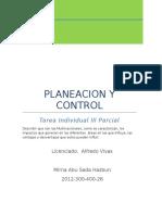 Clase Planeación y Control Tarea