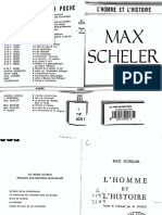 L'Homme et l'histoire Max Scheler