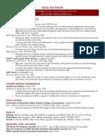 nicholas munson resume