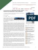 Fotos inéditas de vaciamiento de lago Cachet 2 muestran que fenómeno se está acelerando | Tendencias | La Tercera Edición Impresa