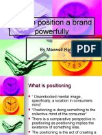 How to Position a Brand Powerfully 04 11-2013