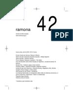 Ramona. Revista de Artes Visuales, Nº42