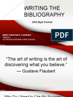 Writing the Bibliography
