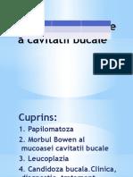Tumorile Epiteliale a Cavitatii Bucale