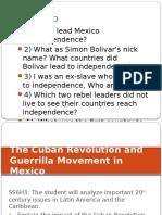 cuba and zapatista revolution use