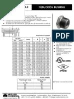 Ficha Tecnica - Reducción Bushing Galvanizado y Negro 511-900_511_998 & 521-900_521-998