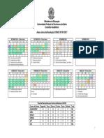 Calendario Academico 2016 1 Reprogramado