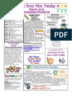 newsletter march 27-31