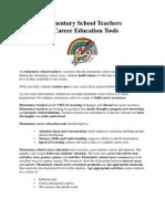 Elementary School Teachers & Career Education Tools