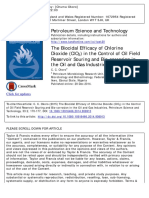 Biocidal Efficacy of Chlorine Dioxide in Oil Industries 2015