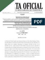 Gaceta Oficial Extraordinaria N°6.292