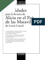 Guía de Lectura Alicia en El País de Las Maravillas